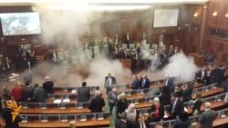 Tear Gas Disrupts Kosovo's Parliament