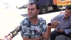 Azərbaycan əsgərləri yolu bağladılar, iranlı sürücülər Ermənistanda qaldı