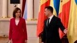 Президент України Володимир Зеленський і президент Молдови Мая Санду. Київ, 12 січня 2021 року