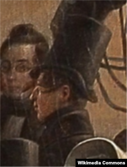 Петр Захаров (в профиль) на полотне Г.Г. Чернецова