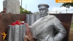 Алып тасталған Сталин ескерткіші