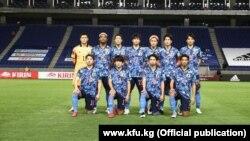 Жапониянын футбол боюнча улуттук курама командасы. 15-июнь, 2021-ж. Суита, Жапония.