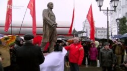 Communists Unveil Lenin Statue In Minsk Amid Protests
