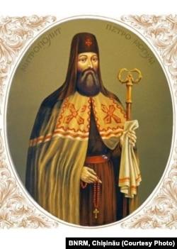 Mitropolitul Petru Movilă, litografie ucraineană