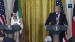U.S President Trump Holds A Press Conference with Kuwaiti Emir Amir al-Sabah