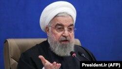 Ирандын президенти Хасан Роухани өкмөт отурумунда. Тегеран. 2021-жылдын 17-февралы.