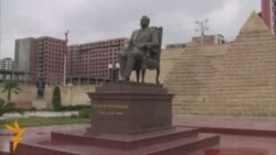 Hosni Mubarak statue dismantled in Baku Short Version