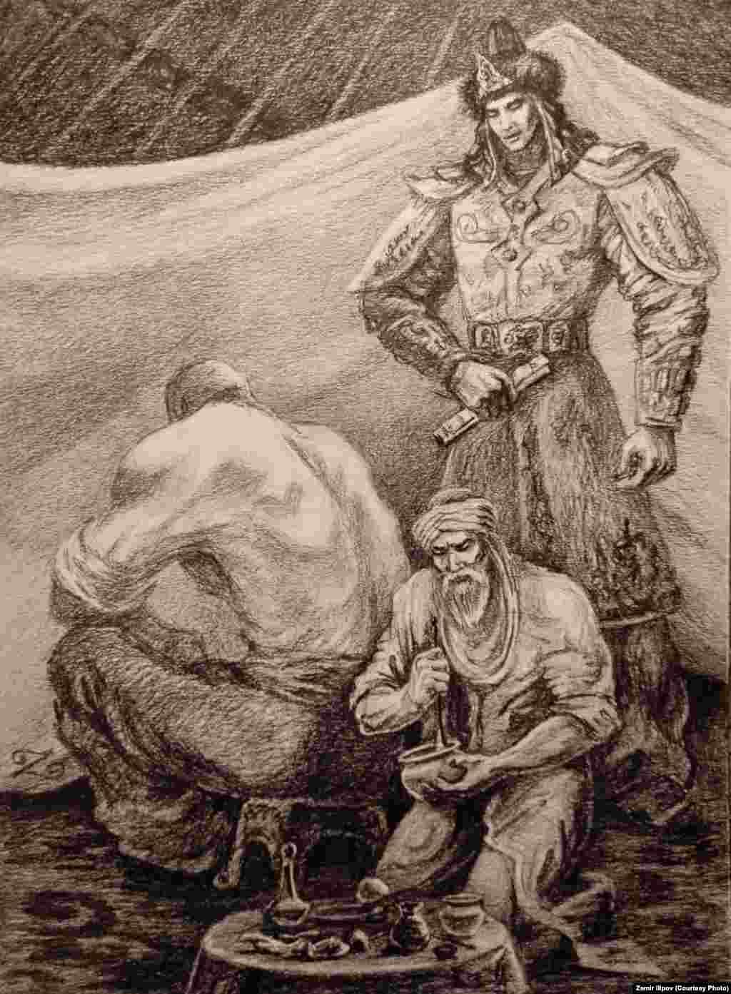 Замир Илипов байыркы кыргыздардын элесин, турмушун тартканды жактыра турганын айтып келет.