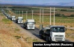 انتقال تجهیزات زرهی به شمال غرب ایران برای شرکت در رزمایش فاتحان خیبر