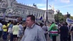 Украинера тIаманна дуьхьал митинг хилла Венехь