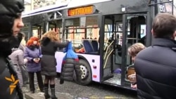 Донецкте троллейбус аткыланды