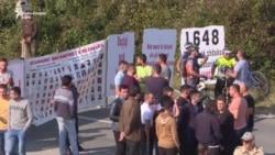 Protesta në Skenderaj kundër vizitës së Vuçiqit