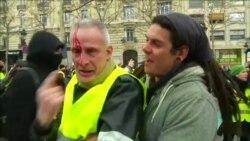 Париж: Нові зіткнення поліції і «жовтих жилетів» – відео