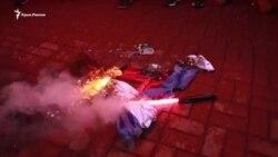 «Это вам за Крым» – в Киеве устроили погром в офисе «Россотрудничества» (видео)