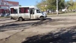 В центре Керчи разбиты дороги (видео)
