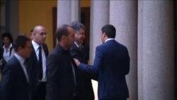 В Милане проходит встреча Владимира Путина с Петром Порошенко