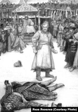 В.М. Васнецов. Кулачный бой. 1891 г.