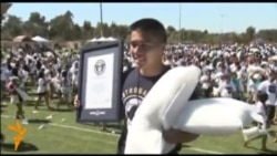 Студенты университета Калифорнии установили рекорд в битве подушками