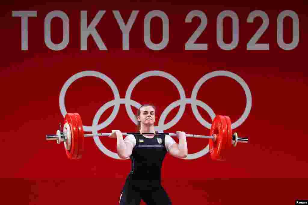 Українка Ірина Деха. Важка атлетика– жінки до 76 кг– група А. Токіо, 1 серпня 2021 року