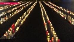 В Латвии выложили дорогу из свечей в память о 25 тысячах убитых евреях (видео)