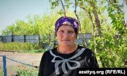 Пенсионерка Любовь Лапоть из села Турген. Акмолинская область, 13 мая 2021 года.