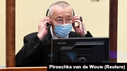 Franko Simatovic appears in court in The Hague on June 30.
