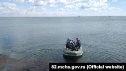 Співробітники російського управління МНС Криму в районі Південного причалу 3 вересня 2021