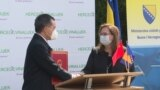China donated 50,000 Sinopharm vaccine to Bosnia and Herzegovina - Ambassador of PRC Ji Ping and Minister of Civil Affairs Ankica Gudeljevic