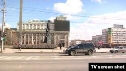 Центральна площа окупованого Донецька