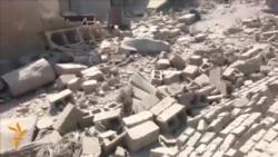 قصف حكومي بالبراميل المتفجرة في القرمة، محافظة الانبار، في 30 آب 2014