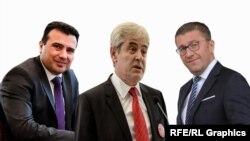 Зоран Заев, Али Ахмети и Христијан Мицкоски