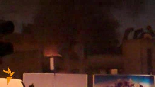 Požar u Glavnoj pošti u centru Skoplja