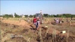 В Донецке сепаратистов хоронят в безымянных могилах