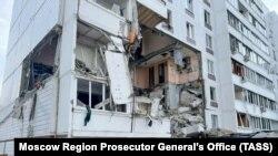 Пошкоджений вибухом будинок, місто Ногінськ, Московська область, Росія, 8 вересня 2021 року