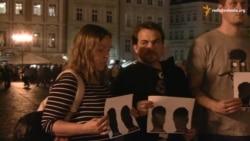Журналісти вшанували у Празі загиблого колегу Гонгадзе