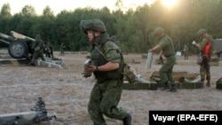 Білоруські та російські військові під час навчань «Слов'янське братерство 2020», 16 вересня 2020