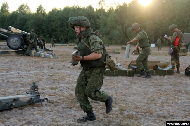 Russian troops have been rotating in and out of Belarus recently under the cover of military drills.