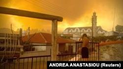 Шумски пожар на Кипар