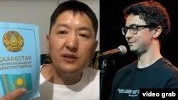 Казакстандык блогер Куат Ахметов жана куудул Идрак Мирзализаде.