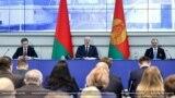 Аляксандар Лукашэнка і Віктар Лукашэнка на Алімпійскім сходзе. 26 лютага.