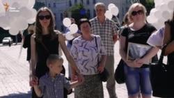 В Киеве прошла акция памяти погибших в Иловайске (видео)