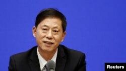 Ceng Ji-hszin sajtótájékoztatót tart Pekingben 2021. július 22-én