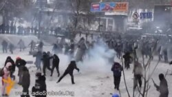Police Beat Back Protesters In Kyiv