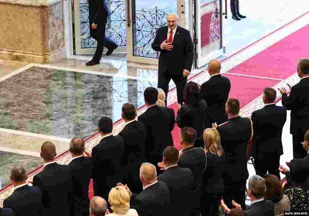 Лукашэнка прыбывае на інаўгурацыю