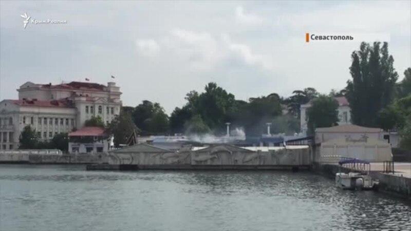 Пожар в Севастопольском дельфинарии (видео)