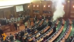 Opposition Release Tear Gas In Kosovo Parliament