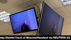 Алексей Навальный выступил по видеосвязи на заседании Бабушкинского суда Москвы. 29 апреля 2021 года