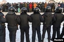 Омськ, акція протесту проти арешту Навального. Росія, 23 січня 2921 року