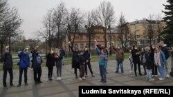 Action in support of Alexei Navalny. Pskov, april 21