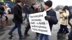 Акції протесту водіїв на єврономерах в різних містах країни – відеорепортаж